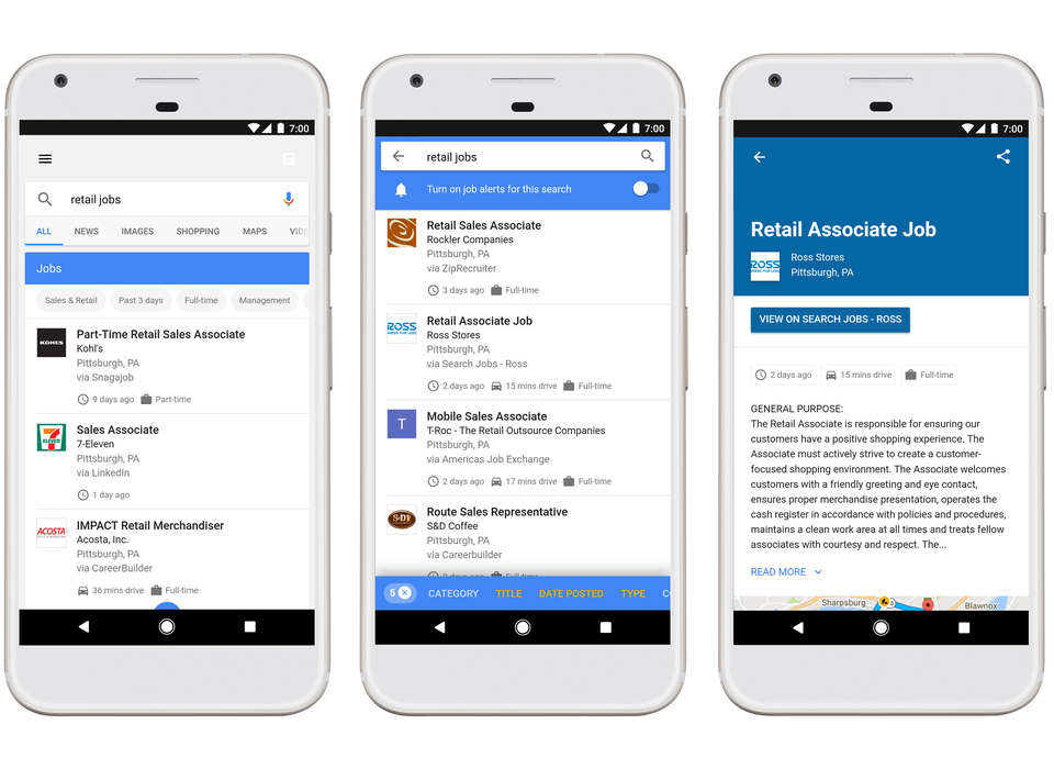 Google Now Shows Job Postings In Its Search Results