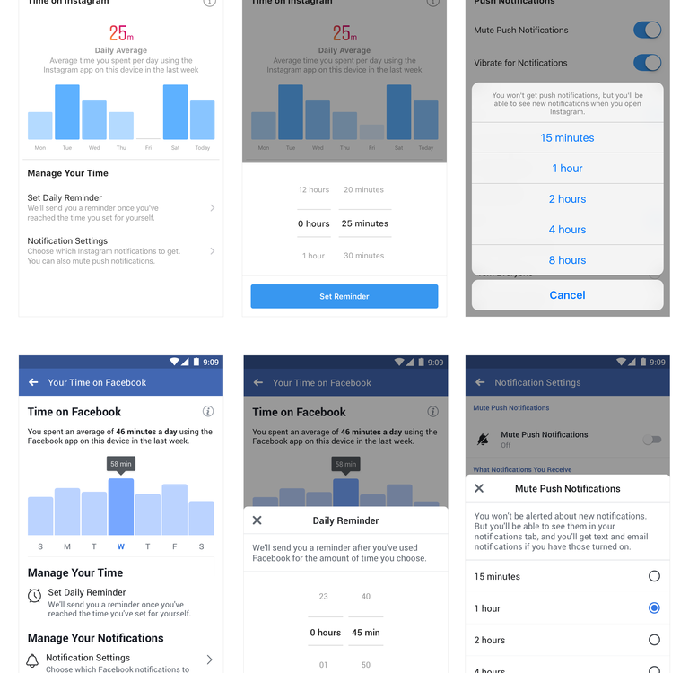 New Tools to Manage Your Time on Facebook and Instagram