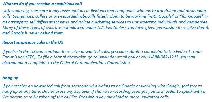 Getting Spam Calls from Google?? How to stop those annoying